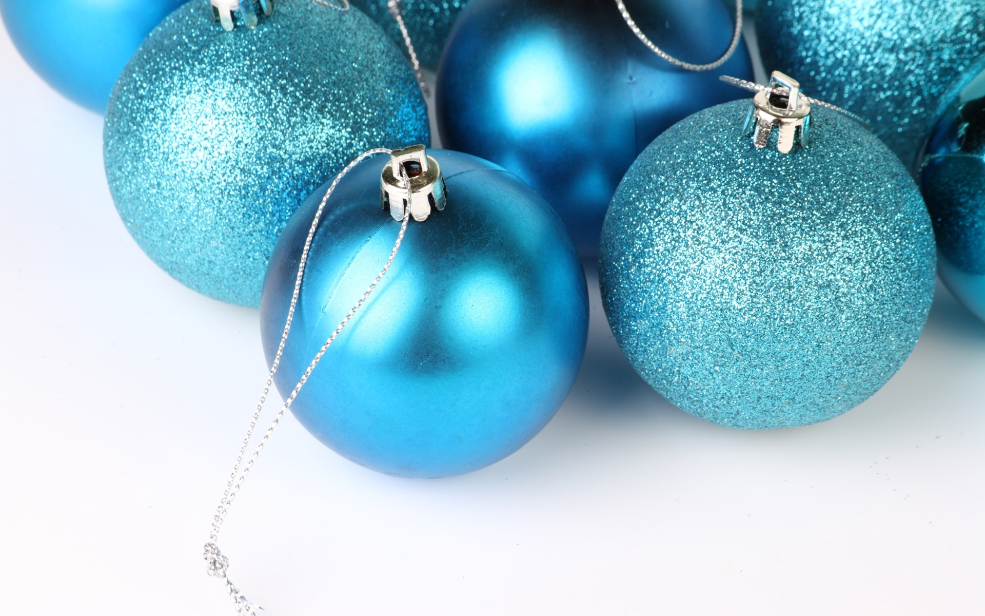 Christmas Blue And Silver Decorations