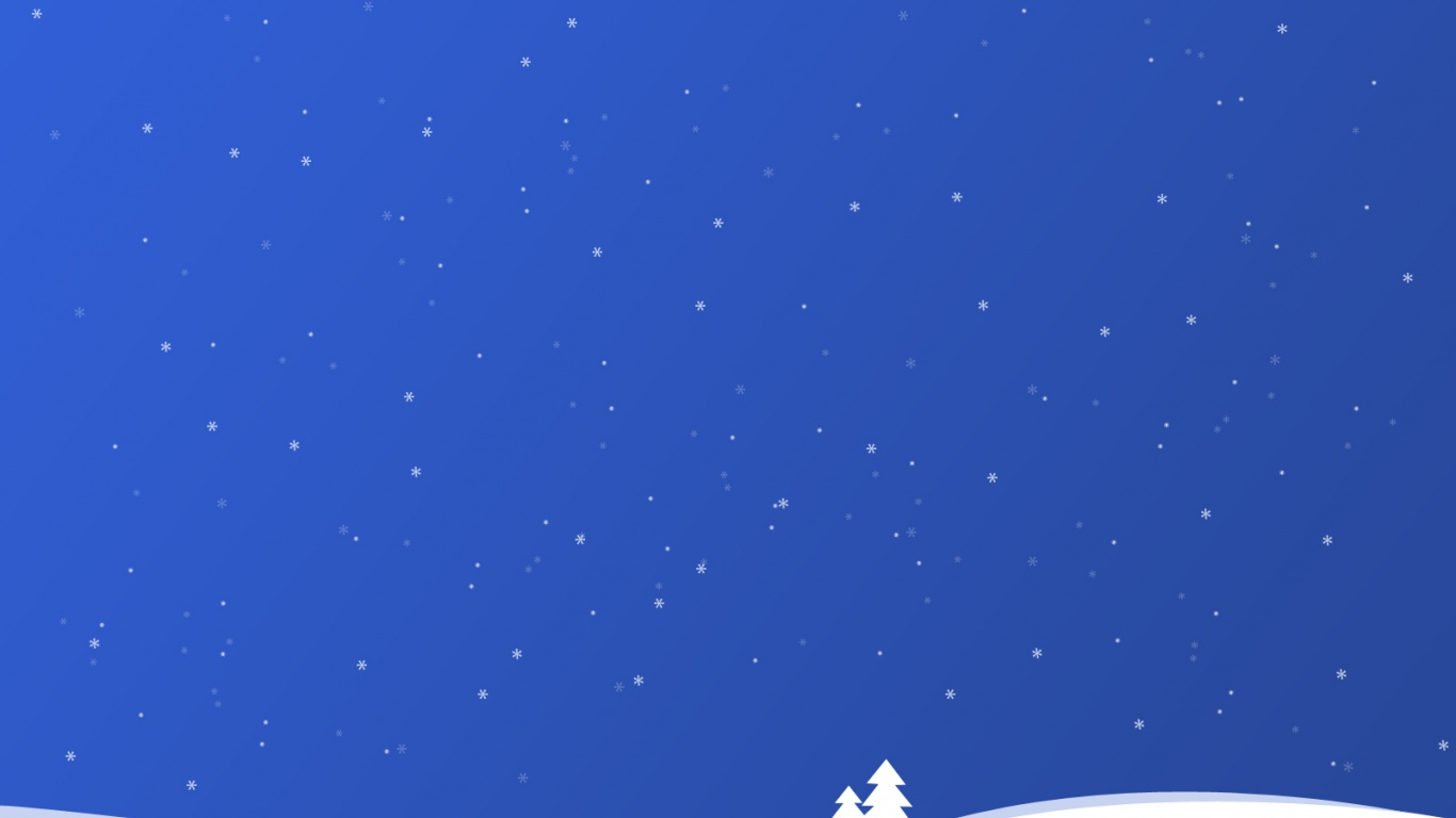 Blue Christmas desktop PC and Mac wallpaper