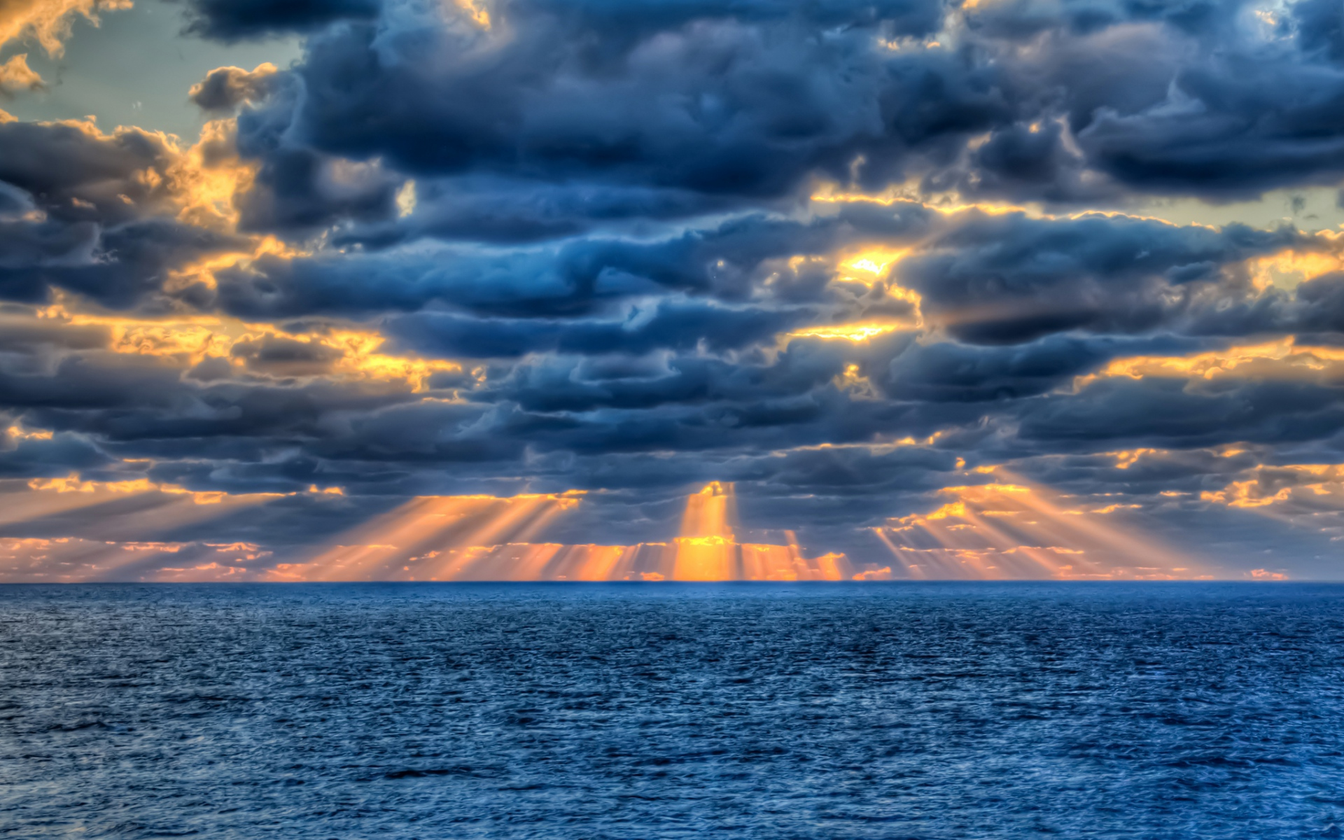 sunset clouds and ocean wallpaper - photo #10