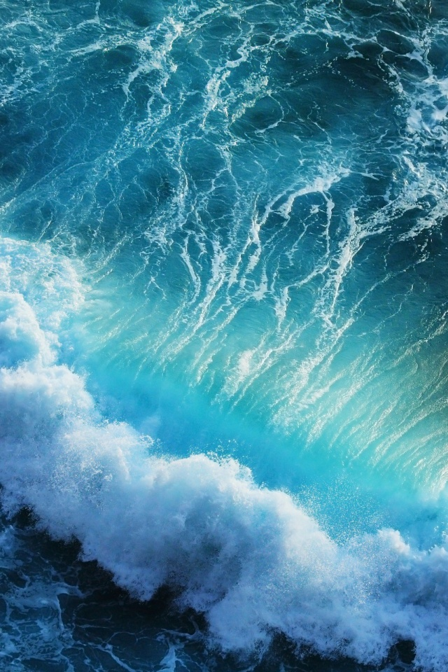640x960 blue ocean waves how to set wallpaper