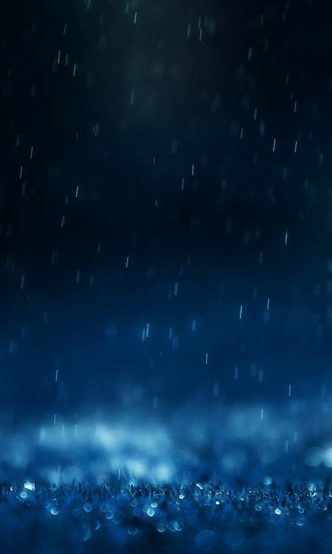 wallpaper rain blue hearts - photo #8
