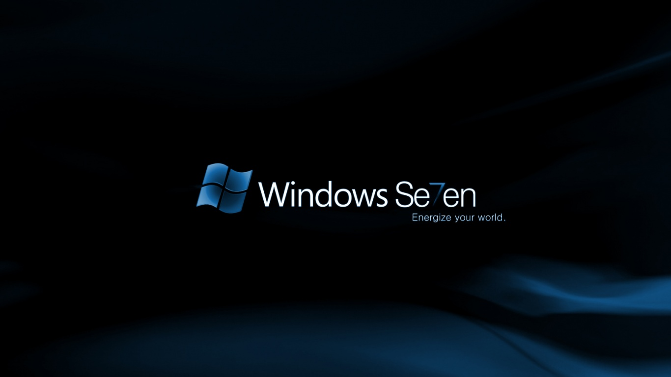 1366x768 Blue Windows 7 Desktop Pc And Mac Wallpaper