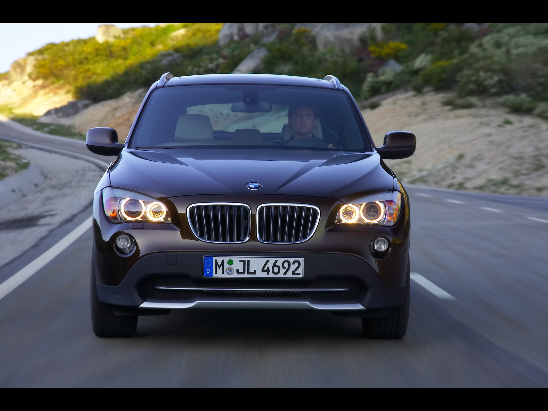 Bmw X1 Front Speed Brown 2 Wallpapers Bmw X1 Front Speed