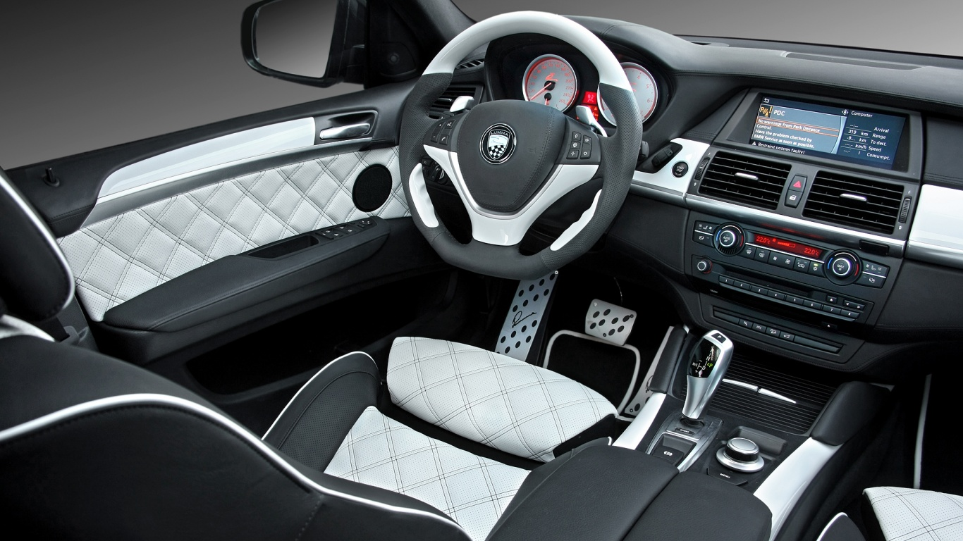 1366x768 Bmw X6 White Interior Desktop Pc And Mac Wallpaper