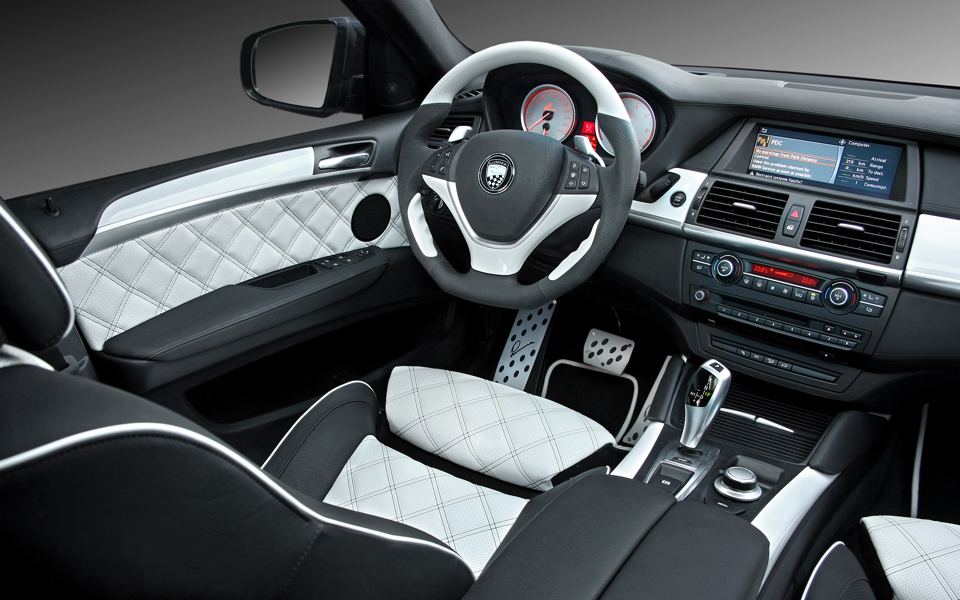 1920x1200 bmw x6 white interior desktop pc and mac wallpaper for Interieur x6