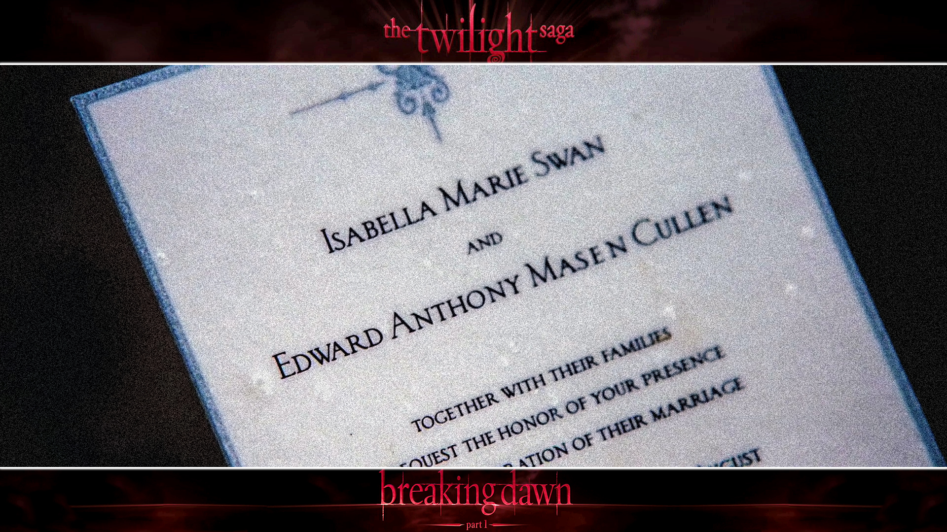 1920x1080 Breaking Dawn: Wedding Invitation desktop PC and Mac wallpaper