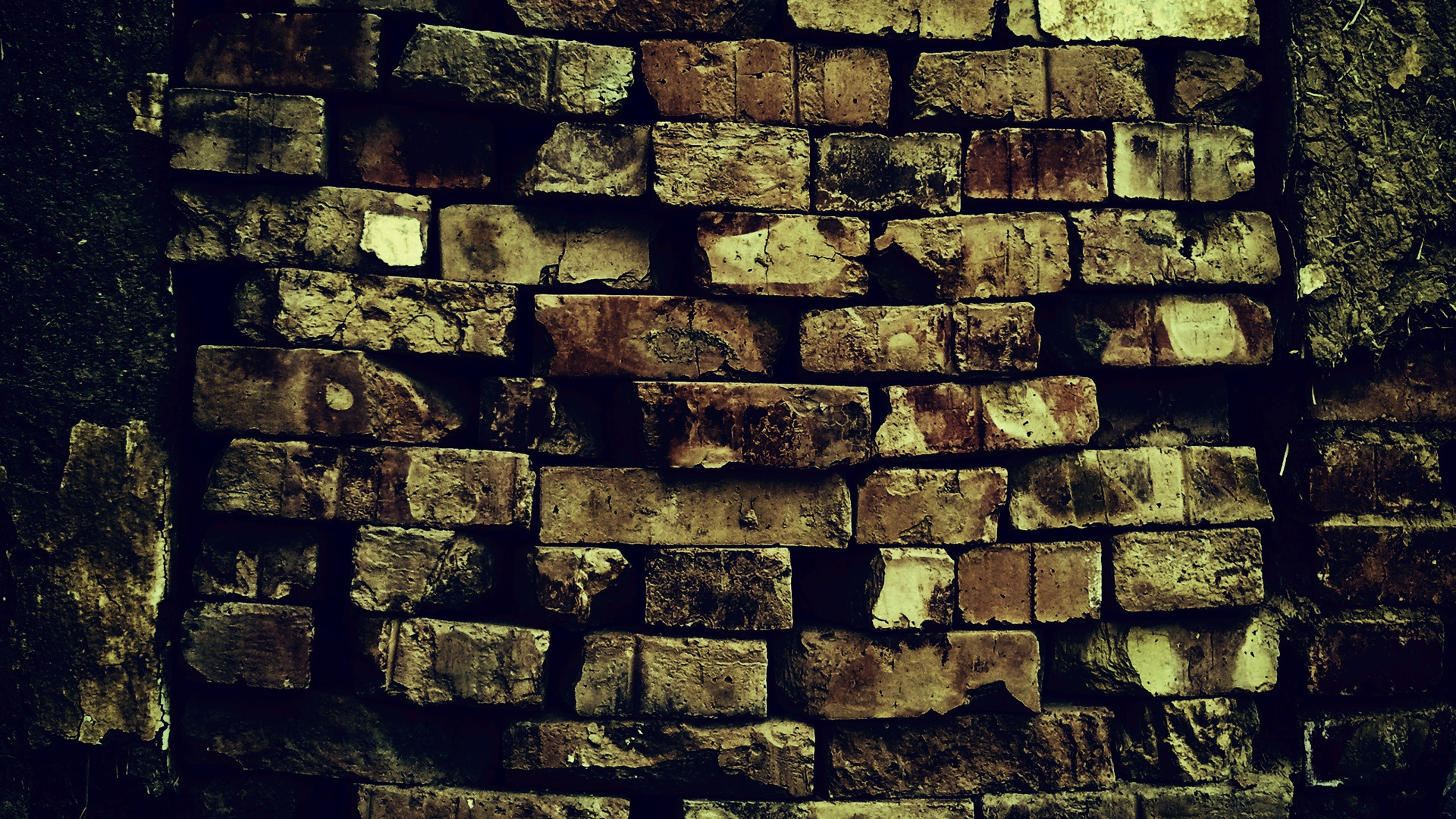 1920x1080 brick wall pattern decay ruin desktop pc and mac for Wallpaper of home wall