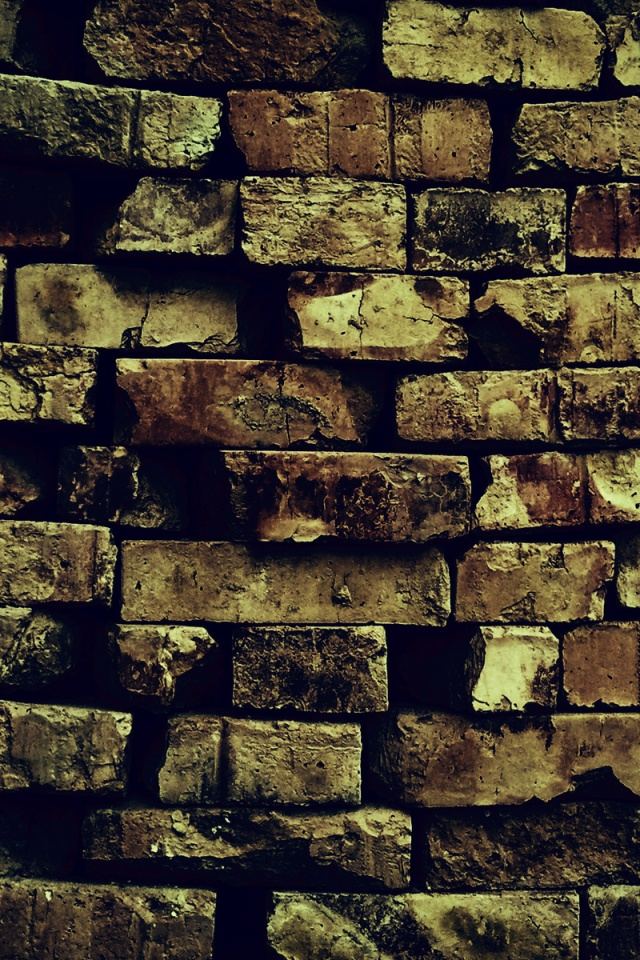 640x960 Brick Wall Pattern Decay Ruin Iphone 4 Wallpaper