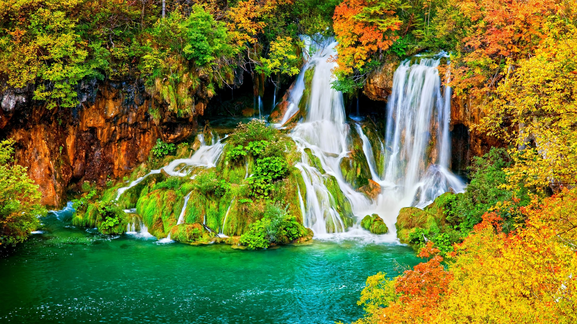 waterfalls desktop wallpaper lake - photo #1