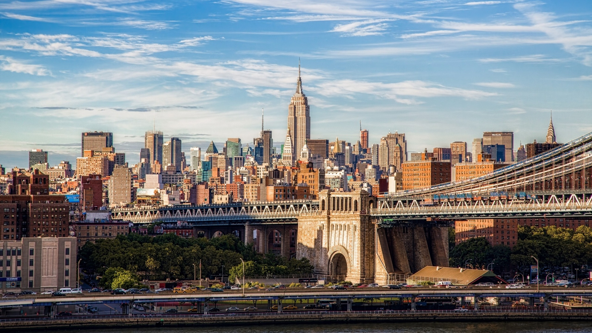 1920x1080 Brooklyn Bridge Manhattan Desktop PC And Mac Wallpaper