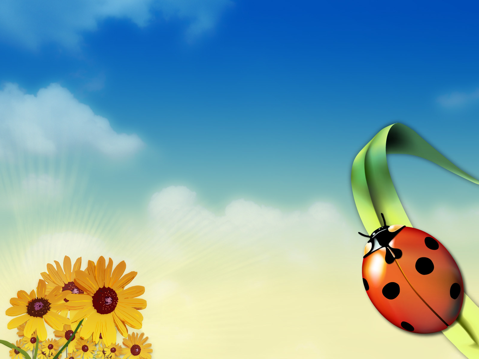 1600x1200 Bugs in summertime desktop PC and Mac wallpaper