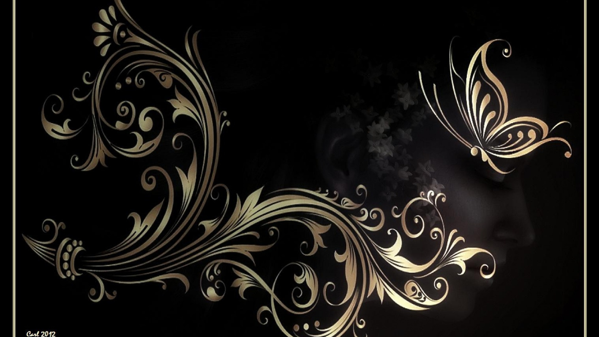 1920x1080 Butterfly & Floral Abstract desktop PC and Mac ...