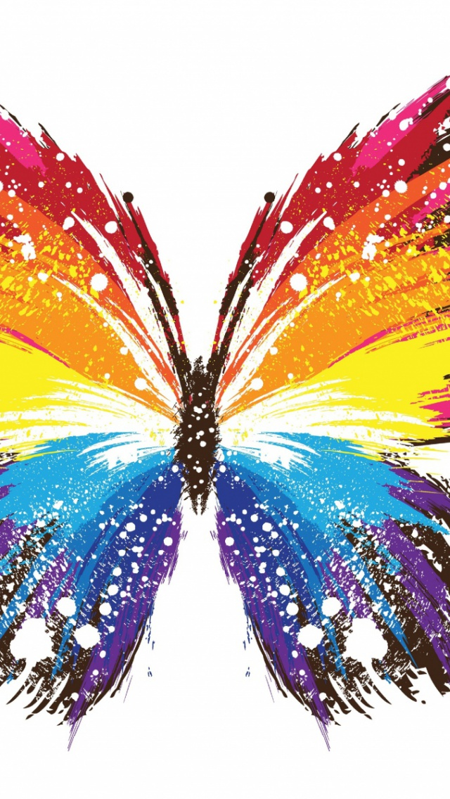 640x1136 Butterfly Pattern Colorful Iphone 5 wallpaper