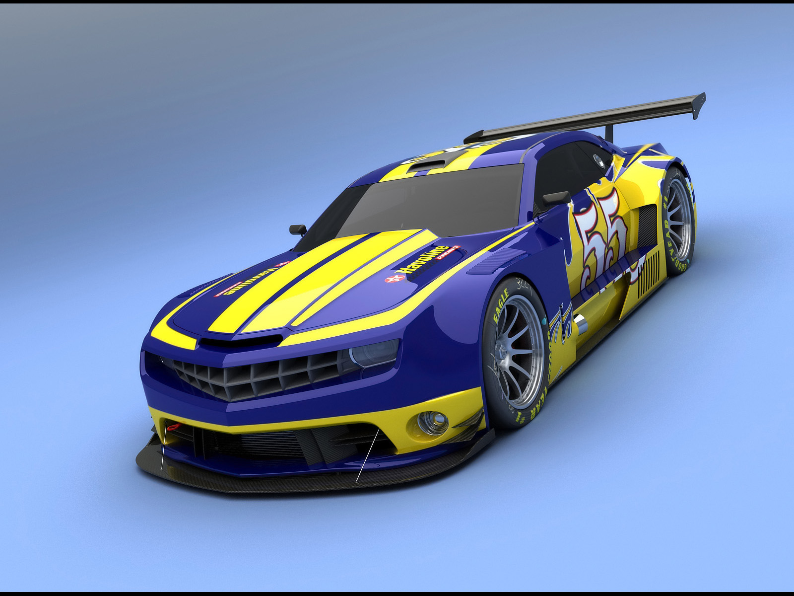 Camaro Alms Blue And Yellow Wallpapers Camaro Alms Blue