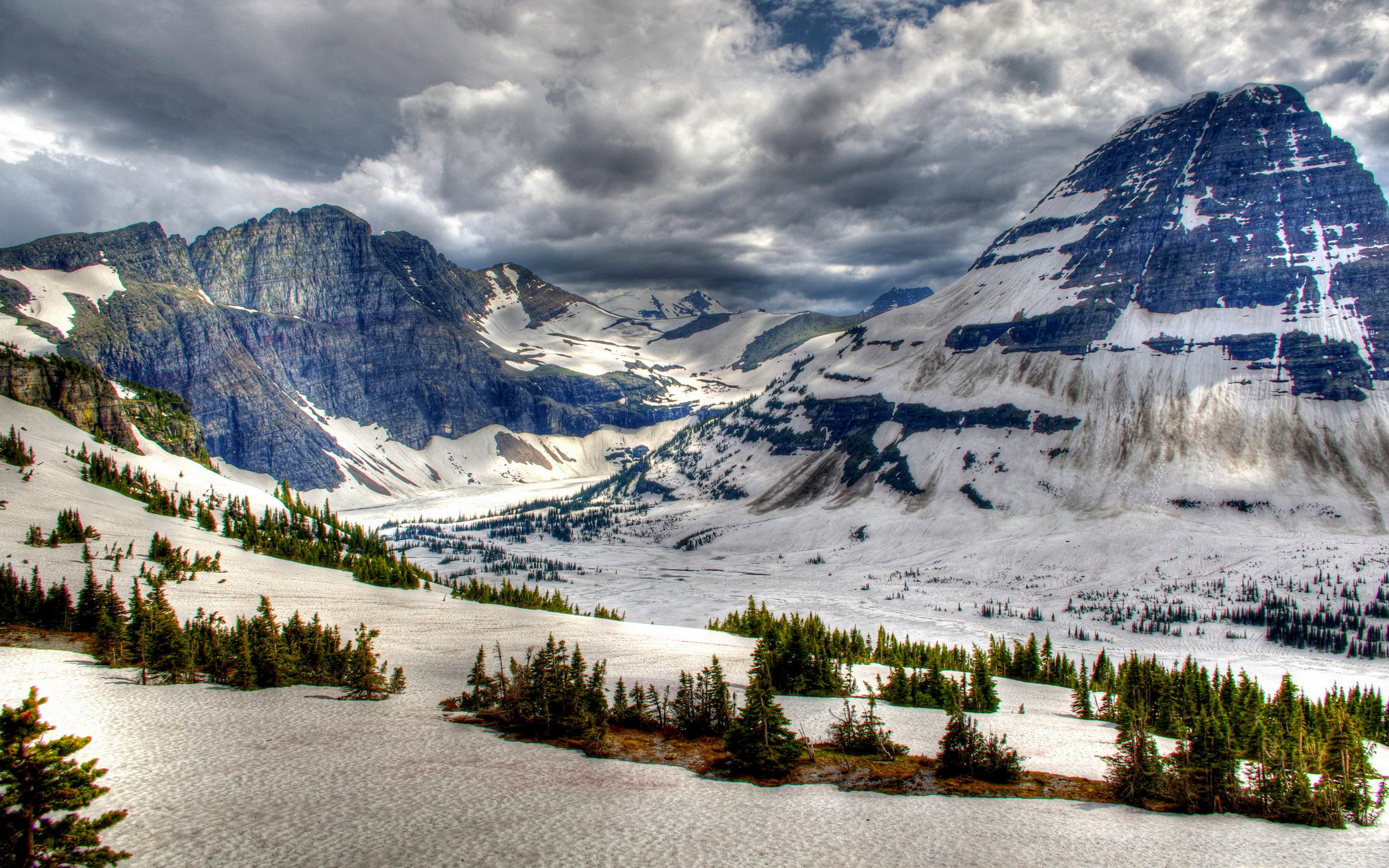 2560x1600 canada park winter mountains b desktop pc and mac wallpaper