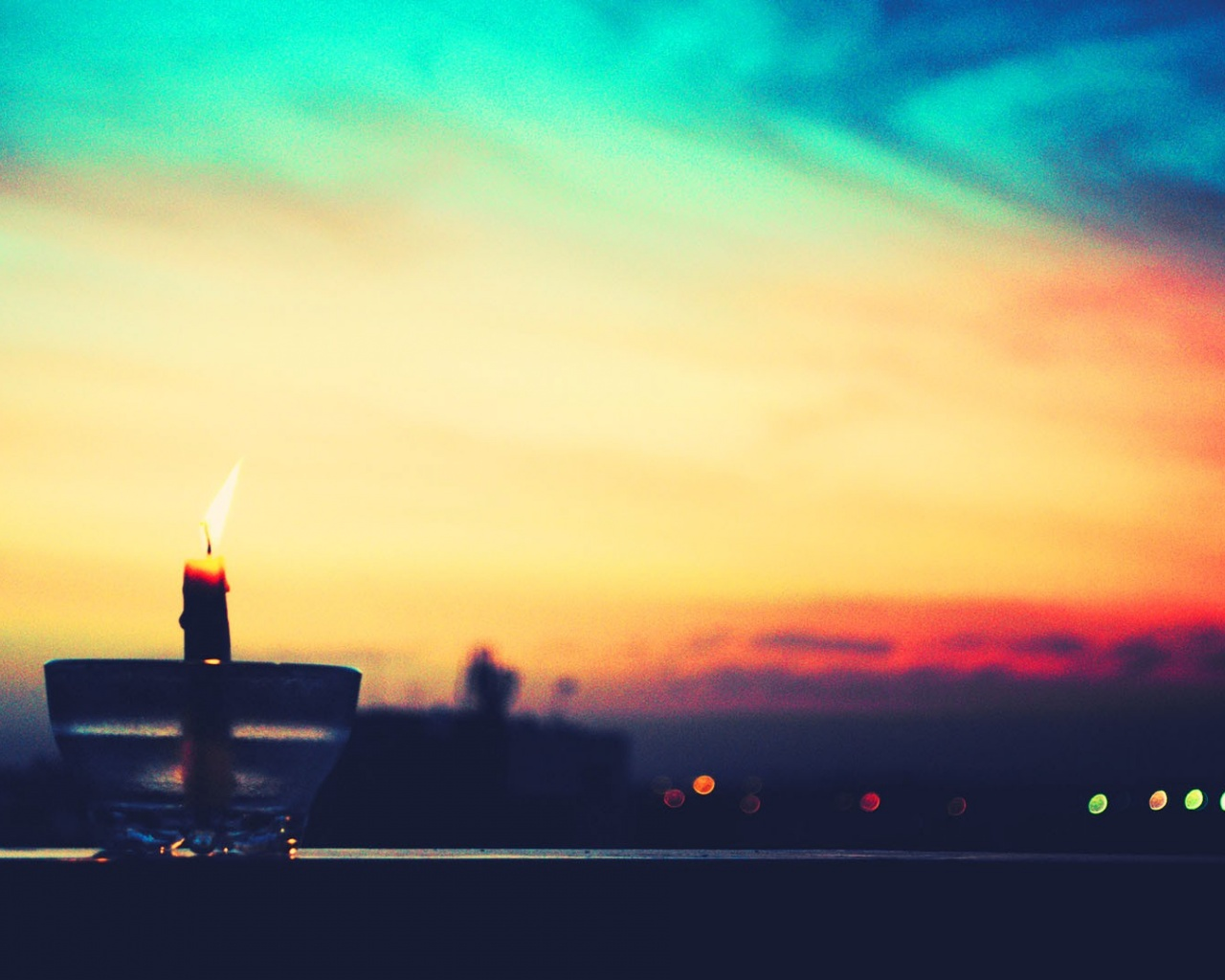 1280x1024 Candle At Sunset Desktop Pc And Mac Wallpaper