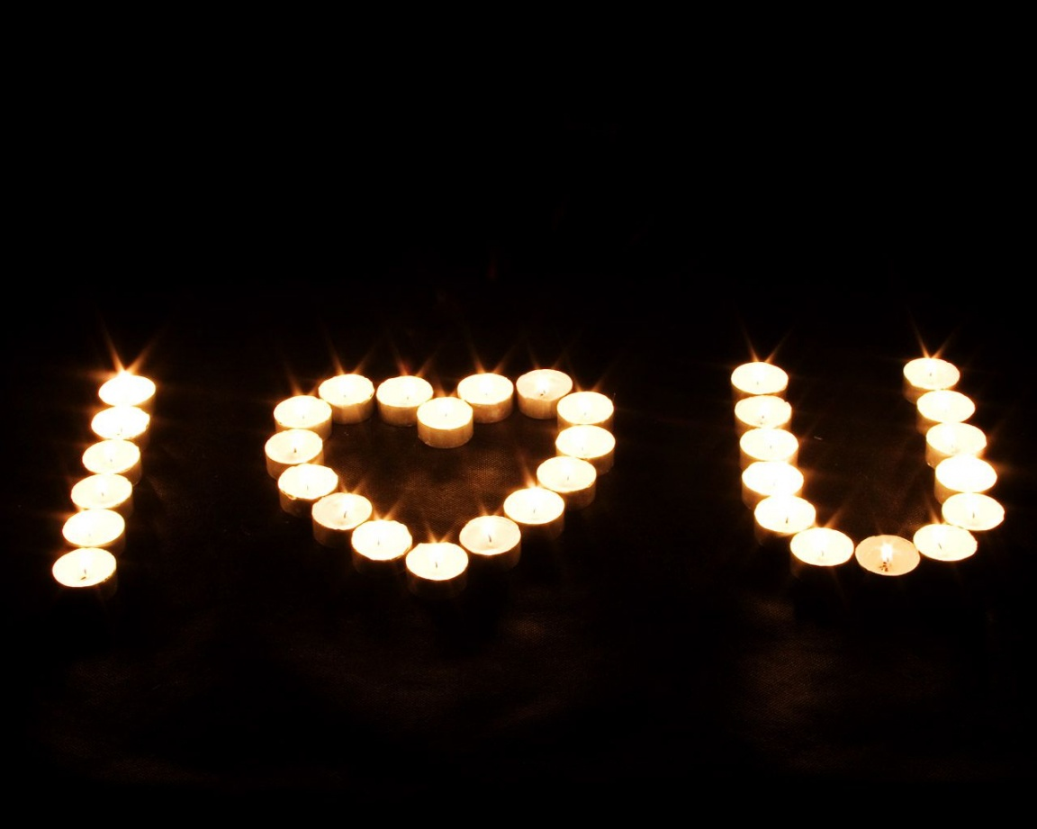 1152x864 candle love sign desktop pc and mac wallpaper