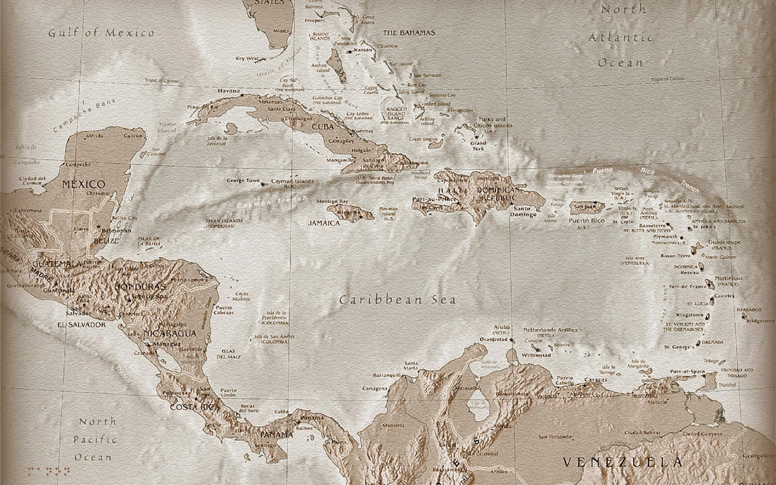 carribean sea map wallpapers | carribean sea map stock photos