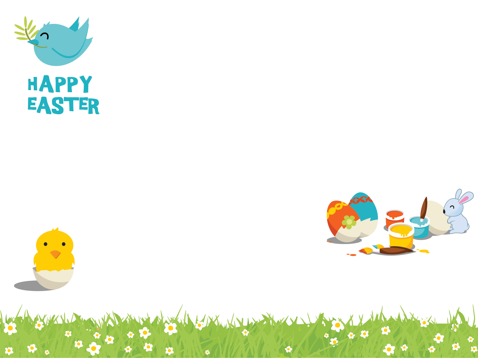 Happy Easter Cartoon Wallpaper Desktop