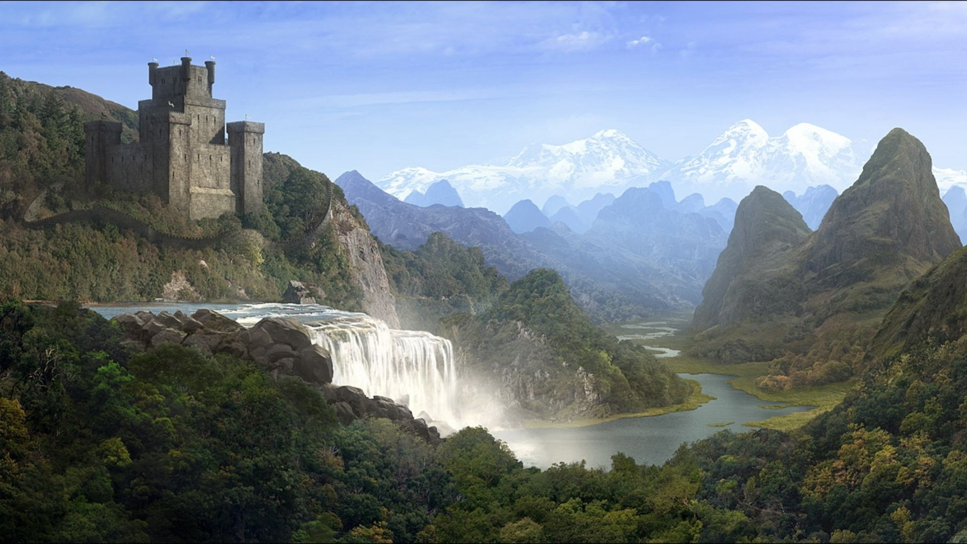 Man Horse Scenic Castle Travel wallpapers | Man Horse Scenic ...