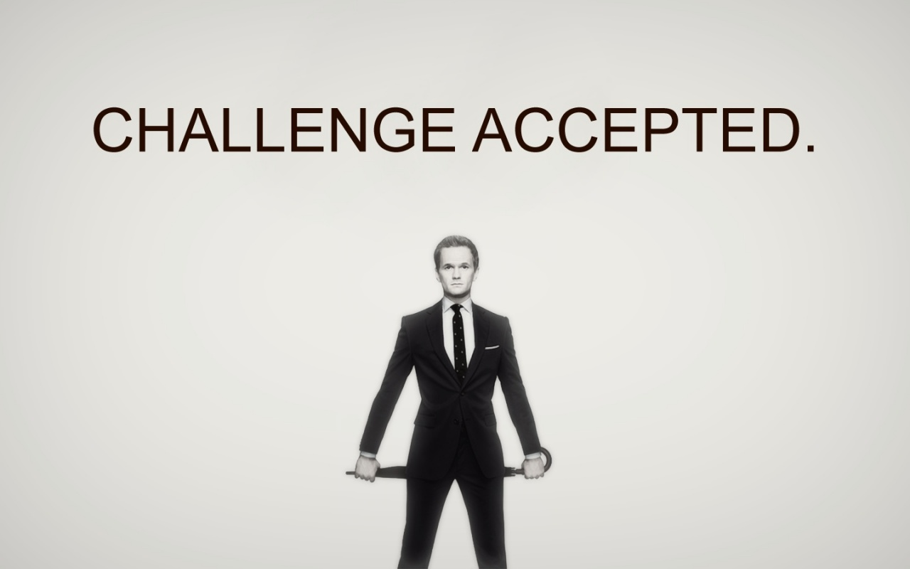 1280x800 Challenge accepted desktop PC and Mac wallpaper