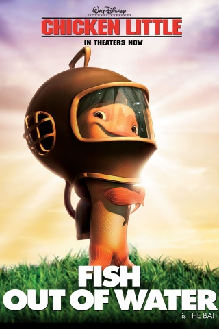 320x480 chicken little fish iphone 3g wallpaper for Fish from chicken little