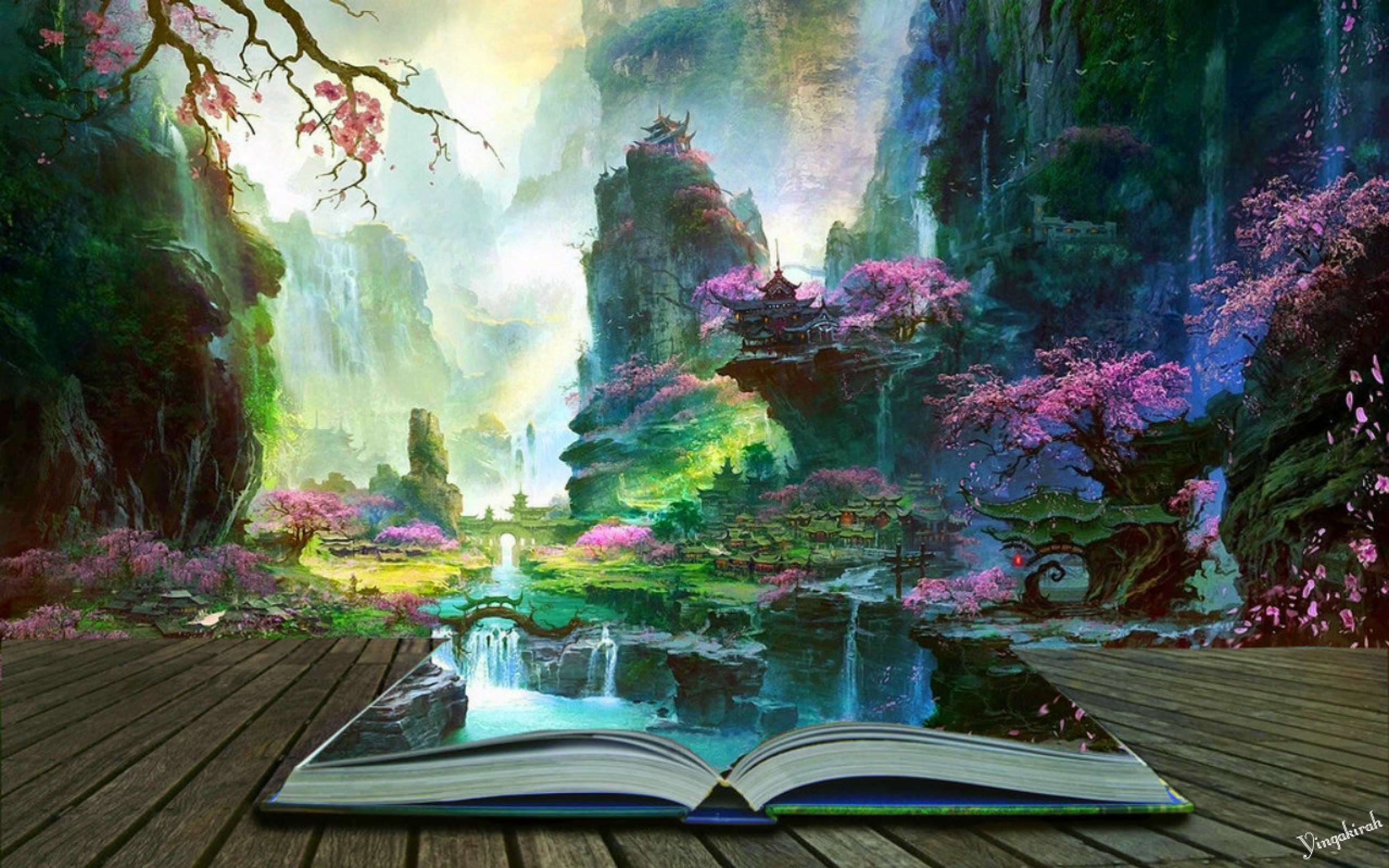 Chinese Book Island Wallpapers
