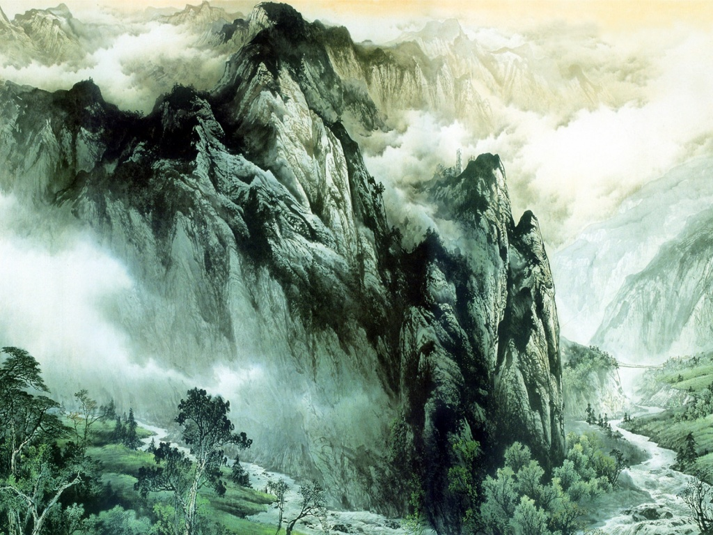 1024x768 Chinese Mountains & Rivers