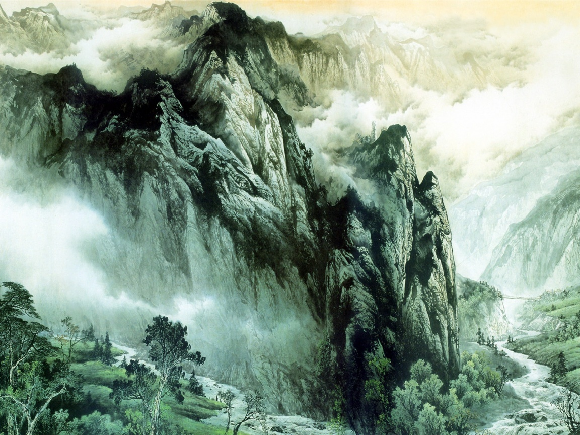 1152x864 Chinese Mountains & Rivers