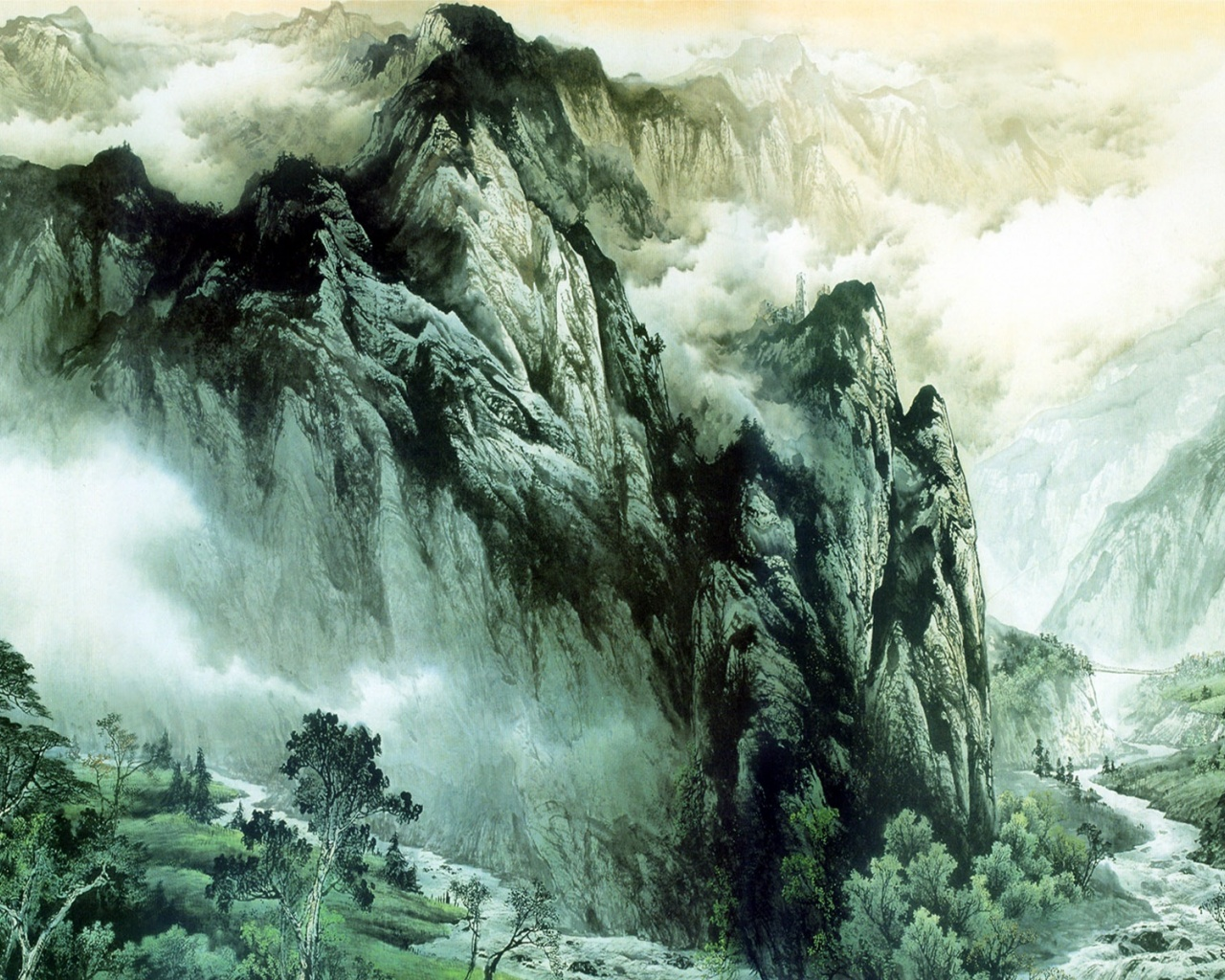 1280x1024 Chinese Mountains & Rivers