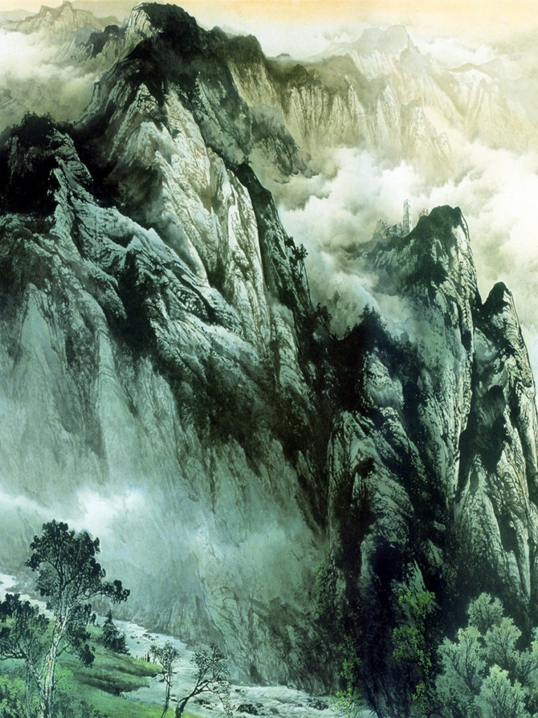 768x1024 Chinese Mountains & Rivers