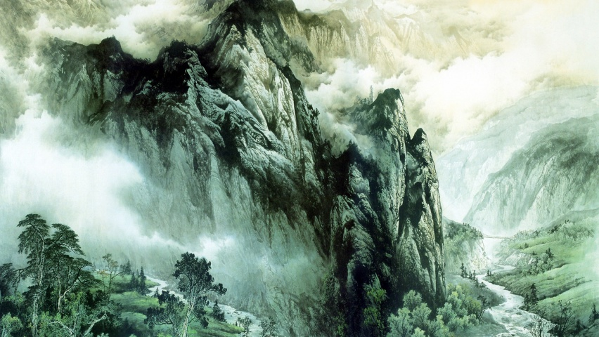 852x480 Chinese Mountains & Rivers