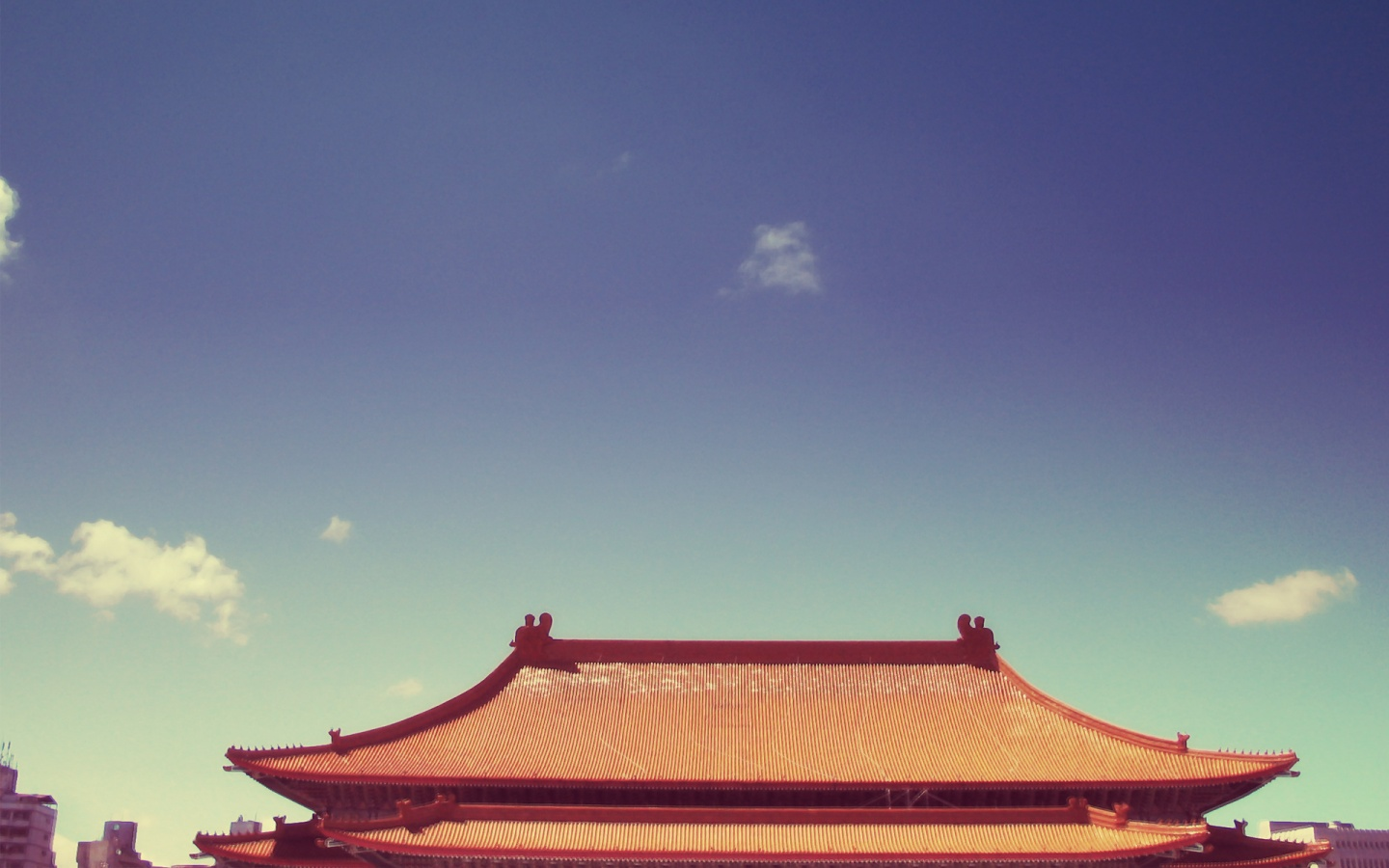 1440x900 Chinese Roof Desktop Pc And Mac Wallpaper