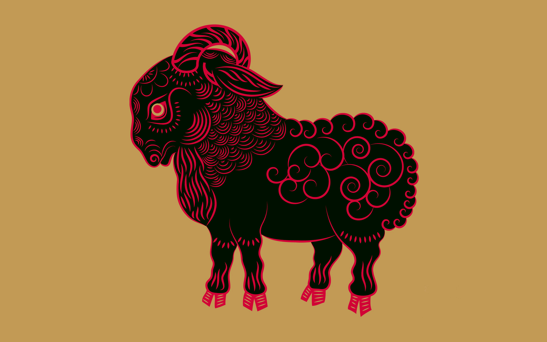 Chinese Zodiac Goat Wallpapers  Stock