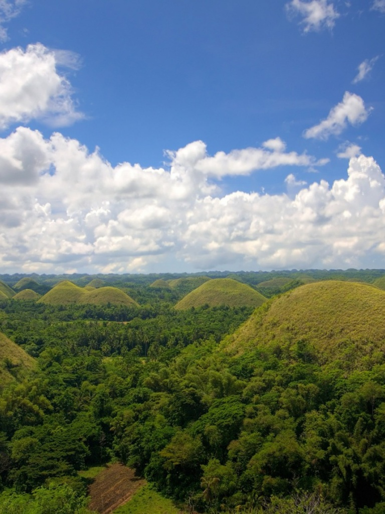 768x1024 chocolate hills philippines ipad wallpaper for Wallpaper home philippines