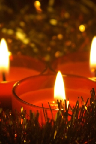 320x480 Christmas Candles Iphone 3g Wallpaper