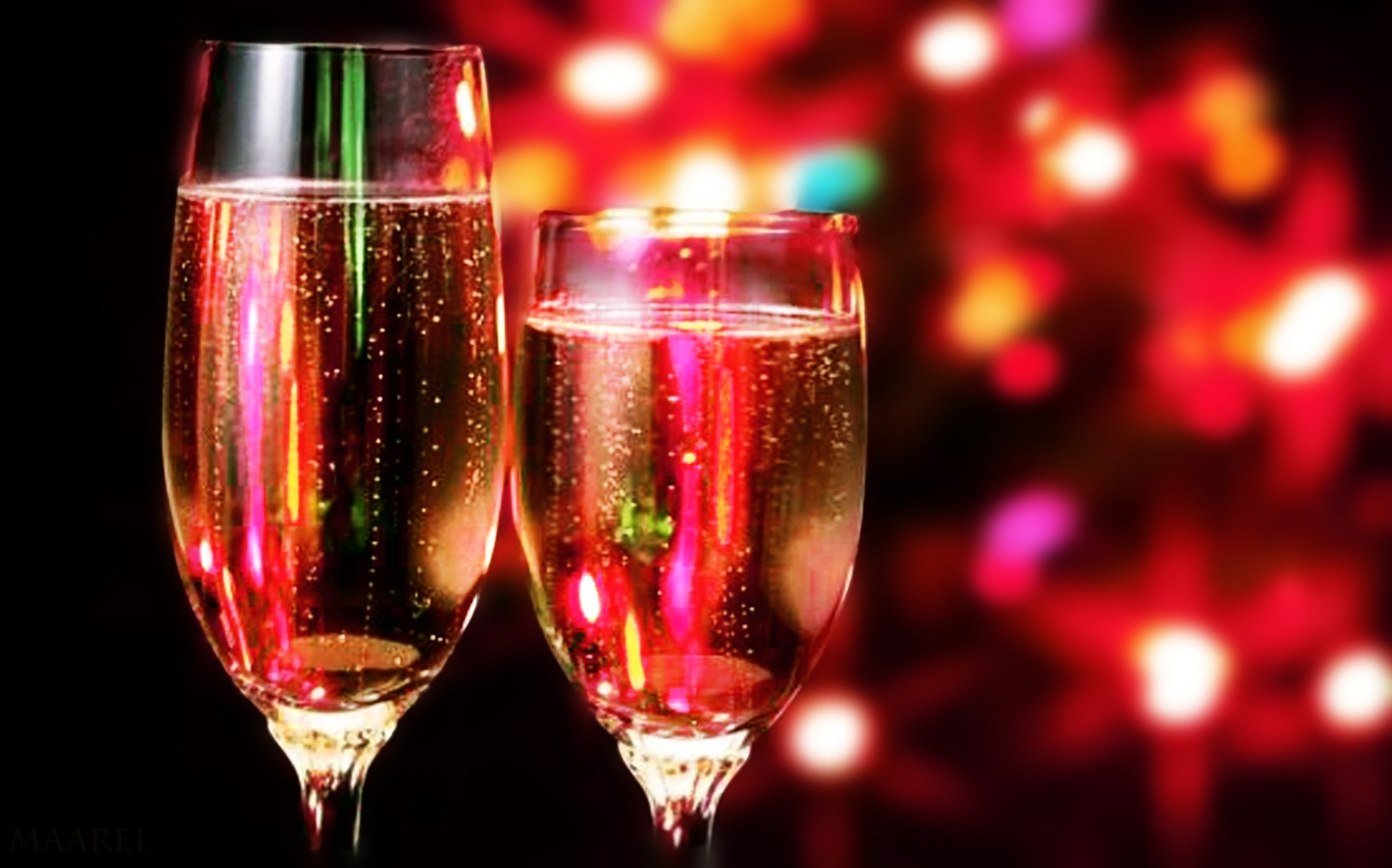 1440x900 christmas champagne desktop pc and mac wallpaper for Christmas in a glass cocktail