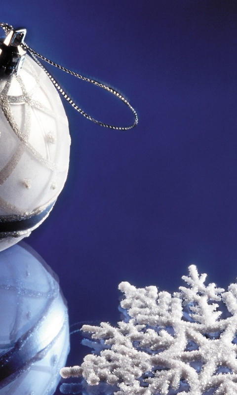 480x800 Christmas decorations, bauble, snowflake, holiday, holidays