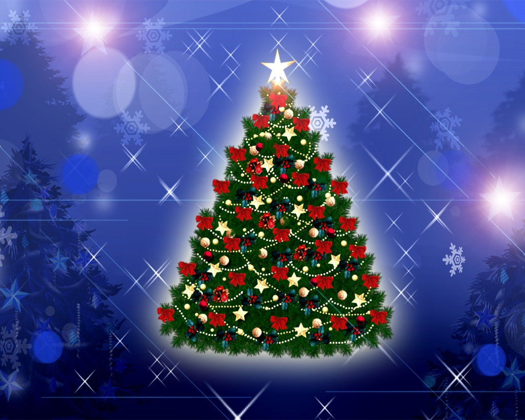 1024x768 christmas tree desktop pc and mac wallpaper