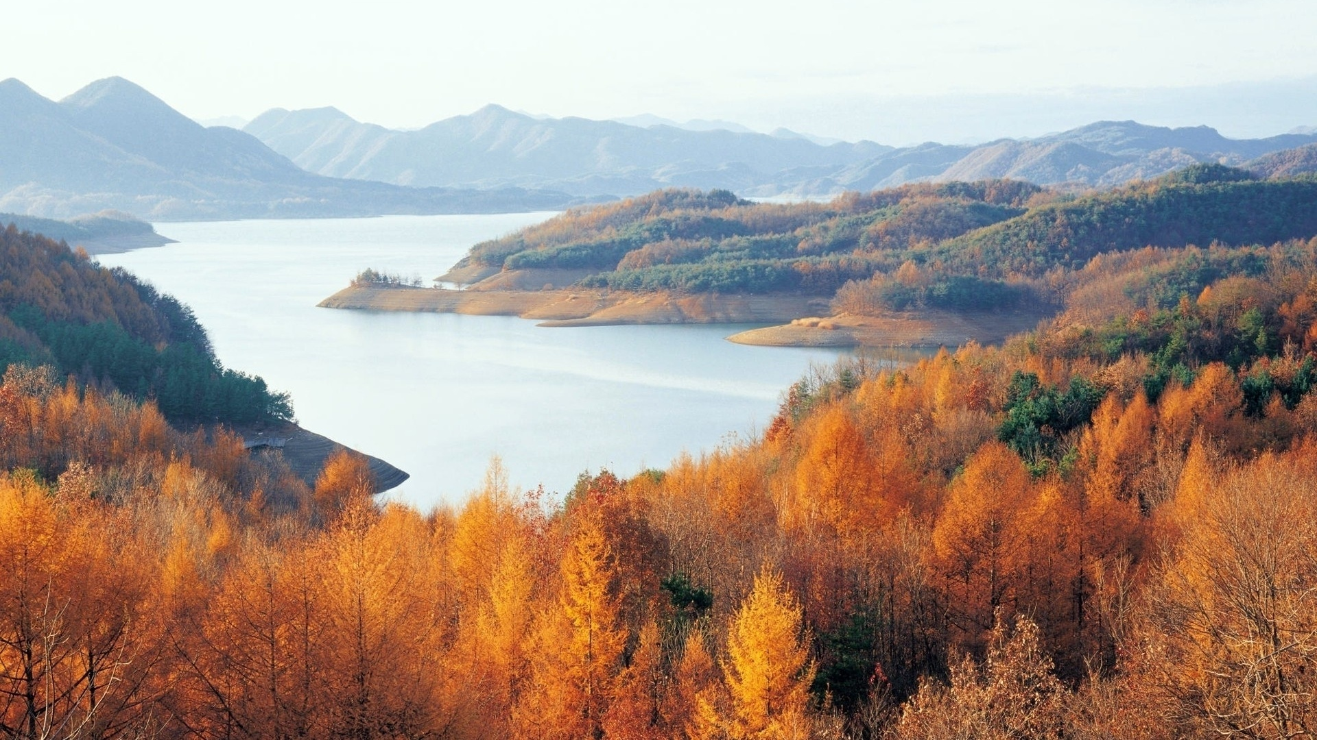 1920x1080 chungjuho lake south korea desktop pc and mac for Home wallpaper korea