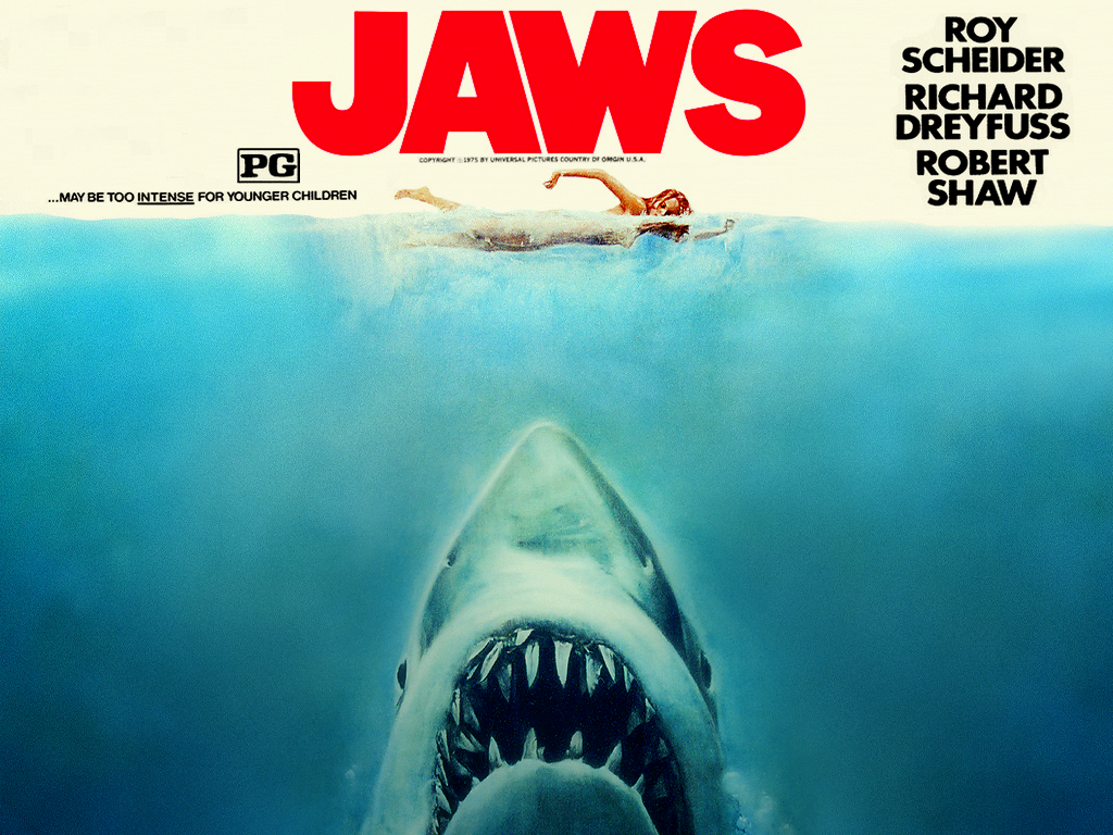 1024x768 classic cinema: jaws desktop pc and mac wallpaper