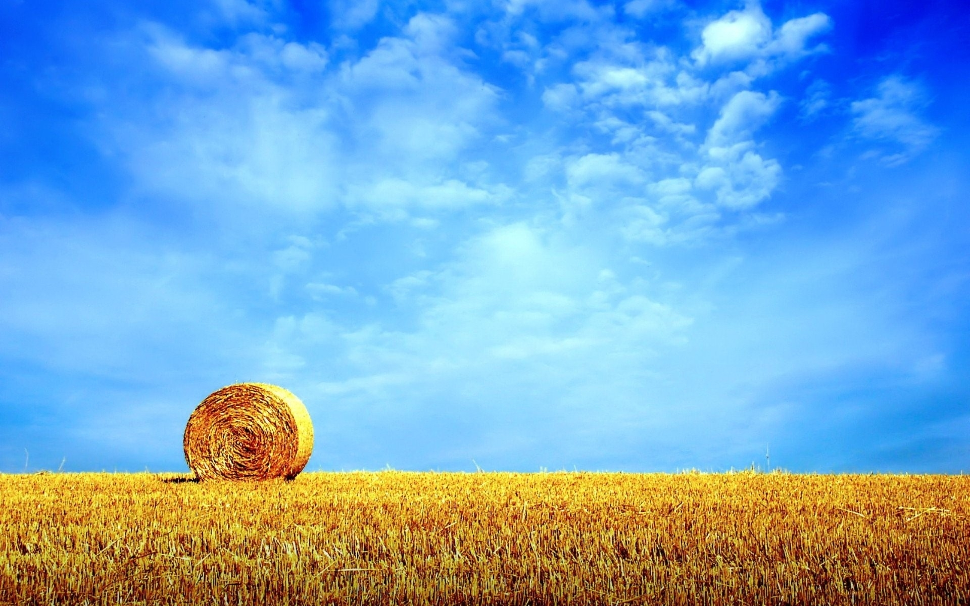 clear sky field hay bale wallpapers clear sky field hay bale