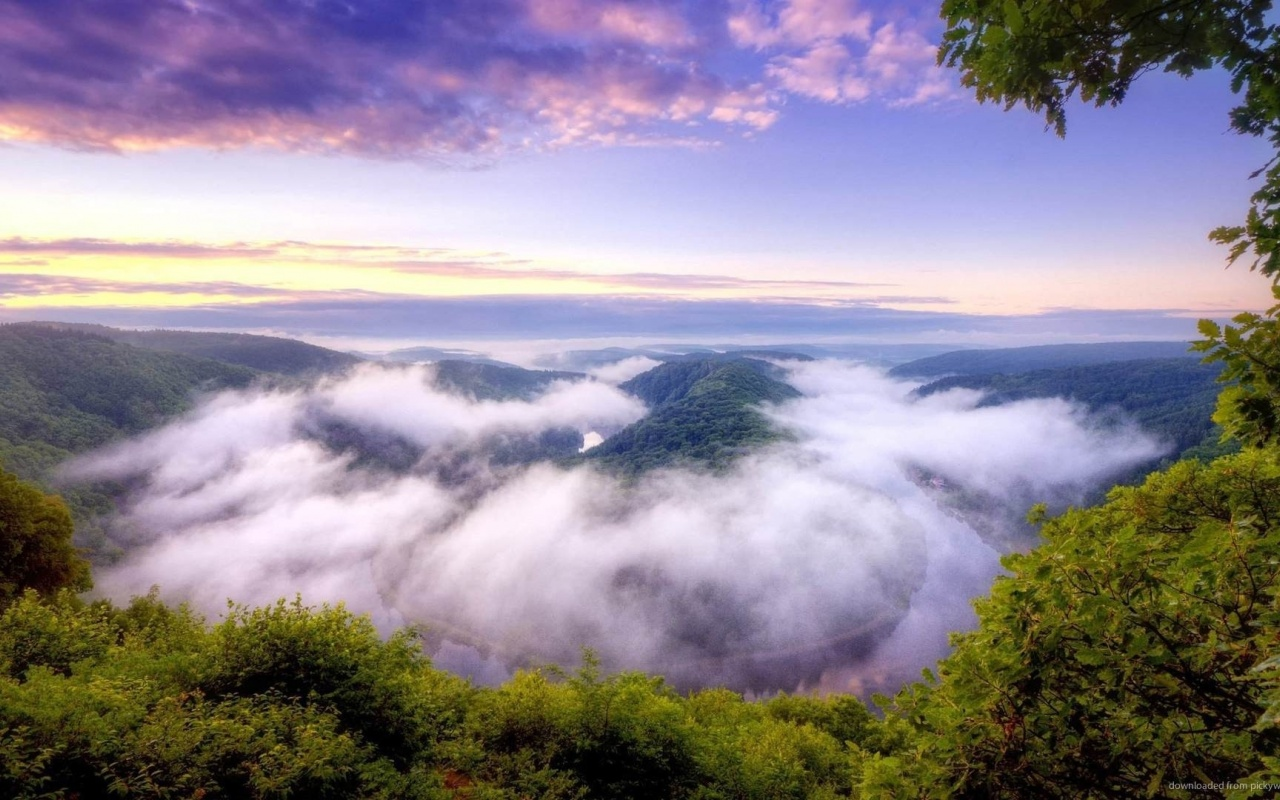 1280x800 clouds nature mist river desktop pc and mac - Wallpapers 1280x800 nature ...
