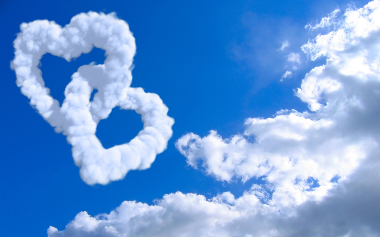 1280x800 Clouds of Heart