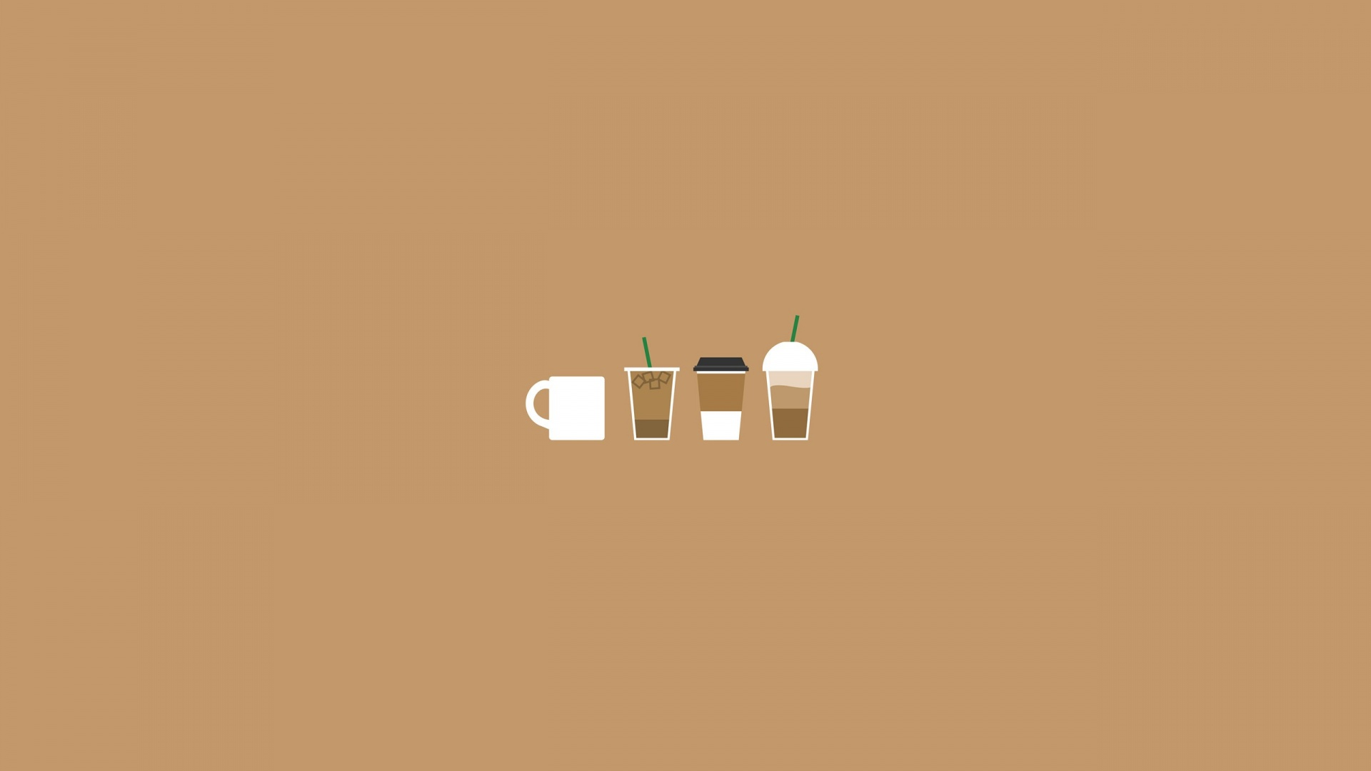 coffee illustration wallpapers 35892 1920x1080