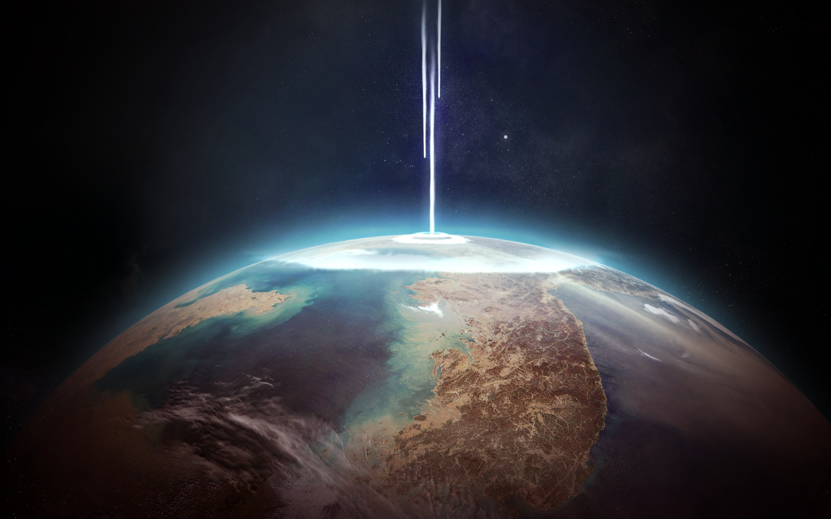the earths place in space Earth, our home, is the third planet from the sun it is the only planet known to have an atmosphere containing free oxygen, oceans of liquid water on its surface, and, of course, life.