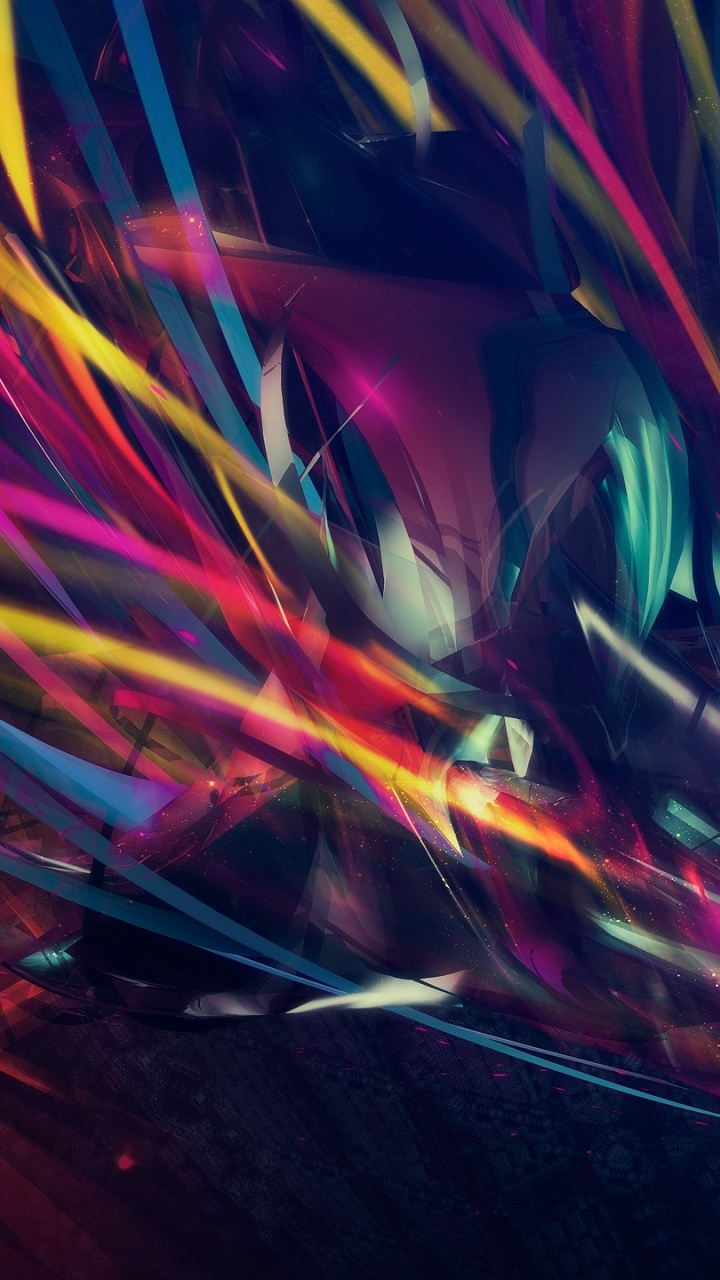 720x1280 Colorful Abstract Shapes Galaxy s3 wallpaper