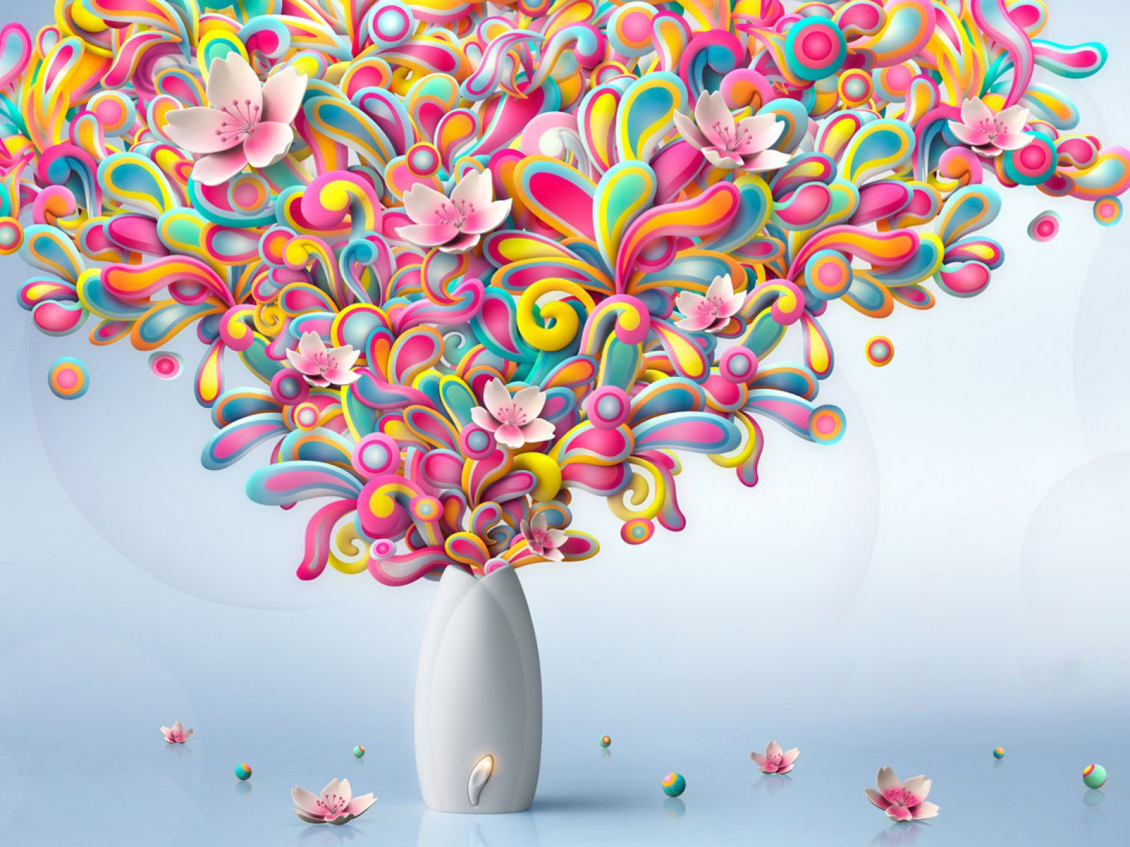 Free Colorful Flower Wallpaper Downloads: Colorful Flowers Explosion Wallpapers