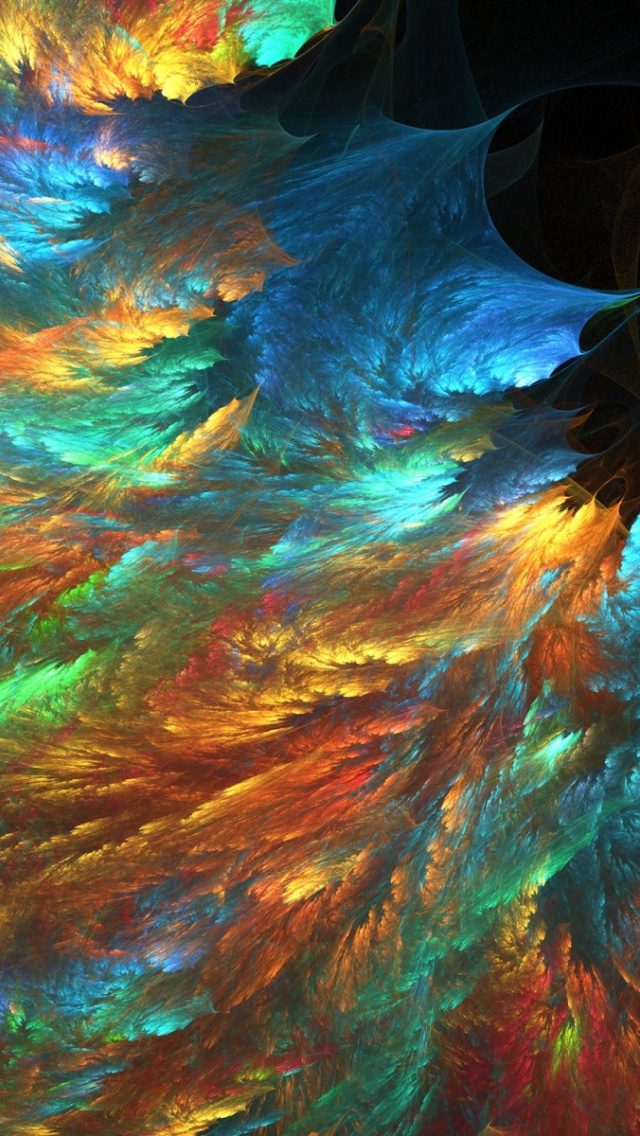 640x1136 Colorful Fractal Psychedelic Iphone 5 Wallpaper