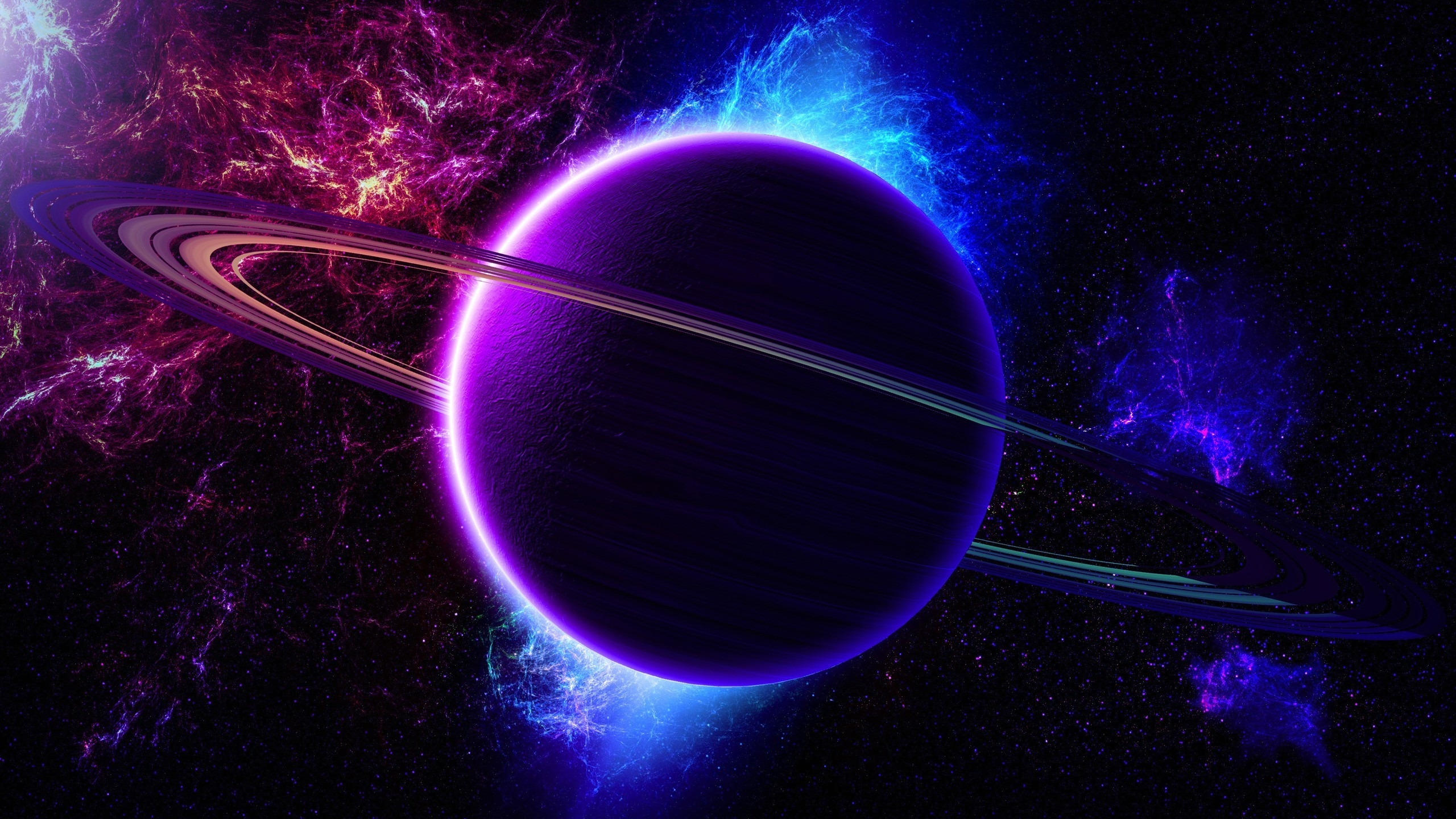 2560x1440 Colorful Galaxy View YouTube Channel Cover